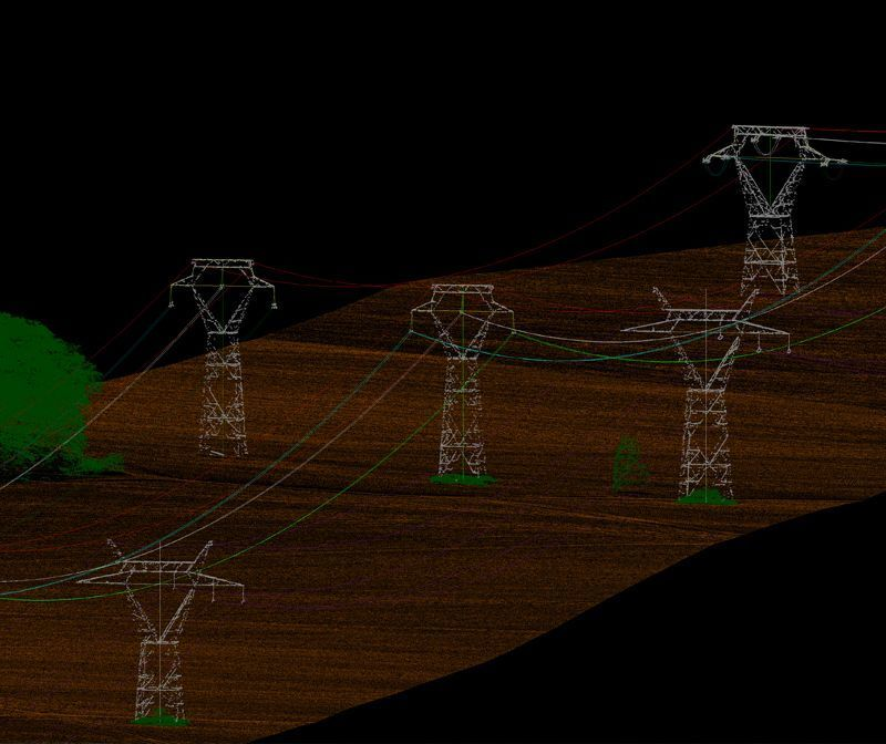 LiDAR DTM of more than 1500km of new power grid line in Africa through LIDAR data