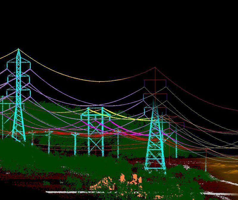 Diseño 3D y clasificación LiDAR para red de alta tensión en Francia